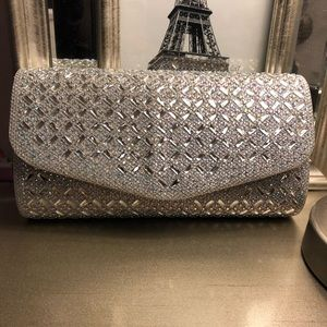 Clutch- silver small bag